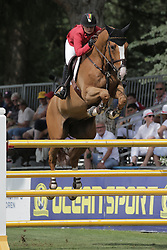 Luethi Kaya (GER) - Pret A Tout<br /> FEI European Jumping Championship for young riders <br /> Arezzo 2014<br /> © Hippo Foto - Stefano Secchi