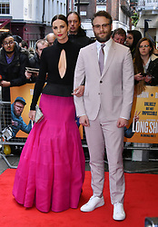 April 25, 2019 - London, London, United Kingdom - Charlize Theron and Seth Rogen attend premiere of comedy about an unemployed journalist who attempts to pursue his childhood crush and babysitter, who now happens to be one of the most powerful women on earth, at Curzon Mayfair.. Long Shot UK film premiere. (Credit Image: © Nils Jorgensen/i-Images via ZUMA Press)