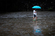 Blue Umbrella Reflections, Cantabria, Northern Spain
