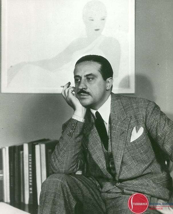 Studebaker publicity shot of Raymond Loewy, c. 1940.