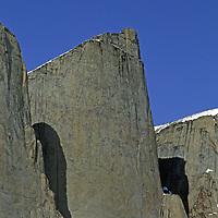 BAFFIN ISLAND, Nunavut, Canada.  Unnamed cliffs above Stewart Valley, north of Clyde River.