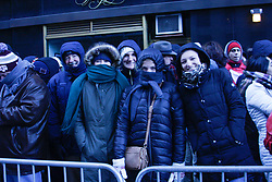 November 22, 2018 - United States - People lined up Central Park along 6th Avenue to 34th Street to watch Macy's Thanksgiving Parade even with much cold and wind. (Credit Image: © Niyi Fote/Pacific Press via ZUMA Wire)