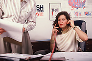 Mary Matalin at work in the Bush Quayle election offices <br /><br />Photograph by Dennos Brack  bb77