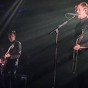 Daniel Kessler and Paul Banks of Interpol performs at Echostage in Washington, D.C. The band is currently touring behind their fifth studio album, El Pintor. (Photo by Kyle Gustafson)