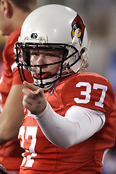 11 December 2015:  Seth Combs(37). NCAA FCS Quarter Final Football Playoff game between Richmond Spiders and Illinois State Redbirds at Hancock Stadium in Normal IL (Photo by Alan Look)