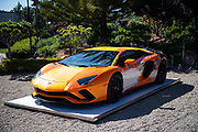 August 15, 2019:  Monterey Car Week, Skyler Grey artist, Lamborghini Aventador S