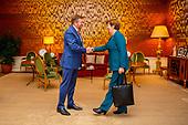 Koning ontvangt voorzitters Eerste Kamerfractie