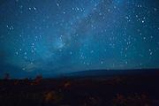 Milky Way, Kilauea Volcano; HVNP; Hawaii Volcanoes National Park; The Big Island of Hawaii; night; stars; star