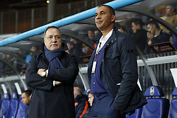 (L-R) coach Dick Advocaat of Holland, assistant trainer Ruud Gullit of Holland during the FIFA World Cup 2018 qualifying match between Belarus and Netherlands on October 07, 2017 at Borisov Arena in Borisov,  Belarus