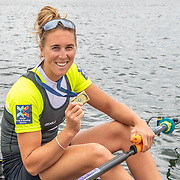 Emma Twigg , New Zealand elite Womens Single Scull<br /> <br /> Compete in the A Finals at FISA World Rowing Cup III on Sunday 14 July 2019 at the Willem Alexander Baan,  Zevenhuizen, Rotterdam, Netherlands. © Copyright photo Steve McArthur / www.photosport.nz