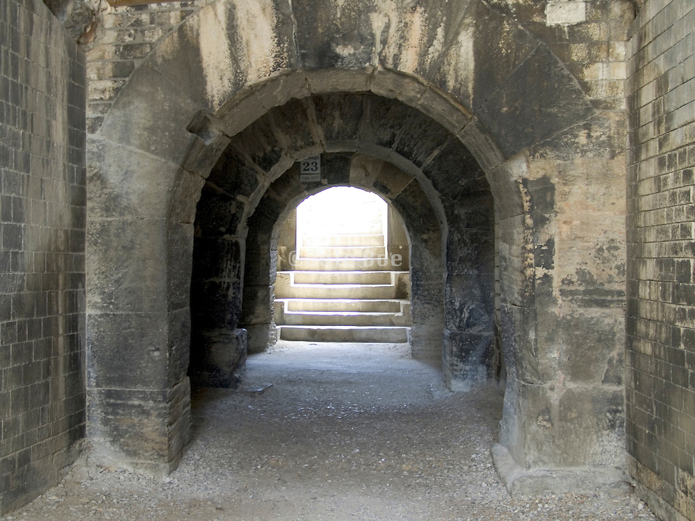 Corridor with arches and stairs Arles