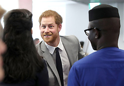 Prince Harry meets delegates during a reception for the Commonwealth Youth Forum at the Queen Elizabeth II Conference Centre, London, during the Commonwealth Heads of Government Meeting.