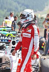 22.08.2015, Circuit de Spa, Francorchamps, BEL, FIA, Formel 1, Grand Prix von Belgien, Qualifying, im Bild Sebastian Vettel (Scuderia Ferrari) // during the Qualifying of Belgian Formula One Grand Prix at the Circuit de Spa in Francorchamps, Belgium on 2015/08/22. EXPA Pictures © 2015, PhotoCredit: EXPA/ Eibner-Pressefoto/ Bermel<br /> <br /> *****ATTENTION - OUT of GER*****