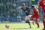 Ross Barkley of Everton and Philippe Coutinho of Liverpool battle for the ball. Barclays Premier League match, Everton v Liverpool at Goodison Park in Liverpool on Sunday 4th October 2015.<br /> pic by Chris Stading, Andrew Orchard sports photography.