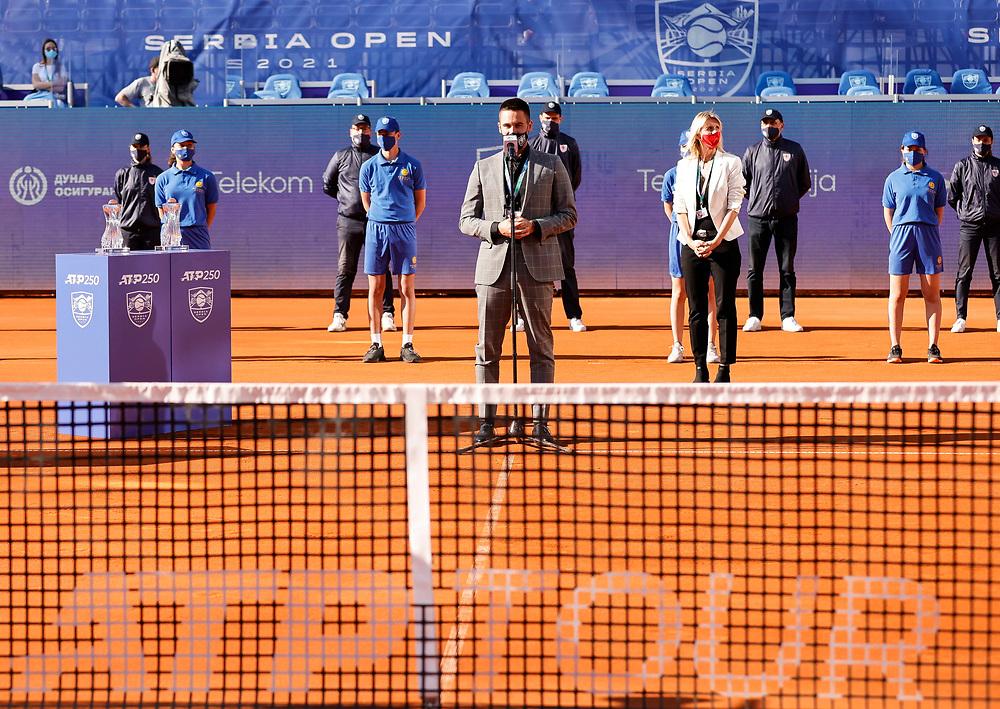 Djordje Djokovic<br /> Tennis-ATP Serbia Open Belgrade 2021-Final Doubles<br /> Ariel Behar (URG) & Gonzalo Escobar (ECU) v Ivan Sabanov (CRO) & Matej Sabanov (CRO<br /> Beograd, 24.04.2021.<br /> foto: Srdjan StevanovicStarsportphoto ©