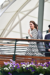 July 3, 2017 - London, London, United Kingdom - Image ©Licensed to i-Images Picture Agency. 03/07/2017. London, United Kingdom. Wimbledon Tennis Championships 2017- Day one. The Duchess of Cambridge arrives for Day one of the 2017 Wimbledon Tennis Championships. Picture by Andrew Parsons / i-Images (Credit Image: © Andrew Parsons/i-Images via ZUMA Press)