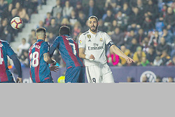 February 24, 2019 - Valencia, Valencia, Spain - Benzema of Real Madrid  during La Liga Spanish championship, football match between Levante and Real Madrid, February 24th, Ciudad de Valencia stadium, in Valencia, Spain. (Credit Image: © AFP7 via ZUMA Wire)