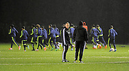 Swansea city assistant coach Alan Curtis © during Swansea city FC team training in Landore, Swansea, South Wales on Wed 19th Feb 2014. the team are training ahead of tomorrow's UEFA Europa league match against Napoli.<br /> pic by Phil Rees, Andrew Orchard sports photography.