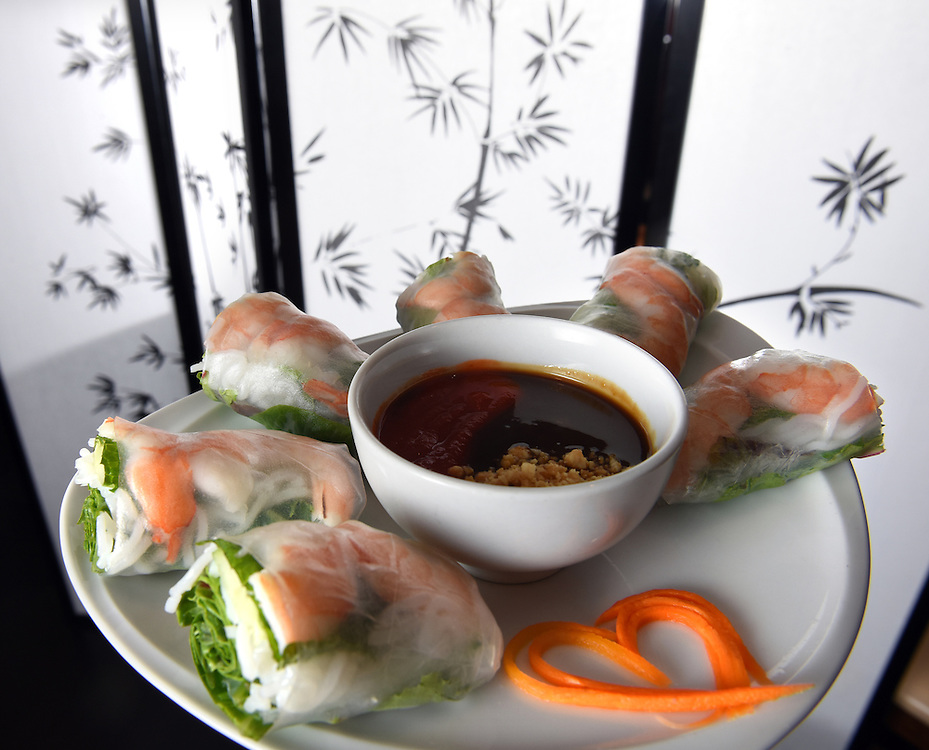Photo by Mara Lavitt--Special to the Hartford Courant<br /> November 18, 2015 <br /> Lan Chi's Vietnamese Restaurant in Middletown. Shrimp spring roll appetizer.