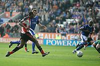 Photo: Pete Lorence.<br />Leicester City v Southampton. Coca Cola Championship. 14/10/2006.<br />John Viafara equalises for Southampton.