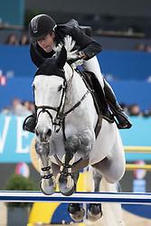 November 23, 2018 - Madrid, Spain - horseman competes during  CSI 5 Longines Global Champions in Madrid Horse Week at IFEMA in Madrid, Spain, 23 November 2018. Madrid Horse Week runs from 23 to 25 November 2018  (Credit Image: © Oscar Gonzalez/NurPhoto via ZUMA Press)