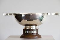 DEN HAAG -  De hoofdprijs voor de vrouwen.  schaal, cub,  Rabobank World Cup Hockey 2014 . COPYRIGHT KOEN SUYK