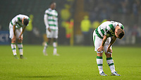 05/11/15 UEFA EUROPA LEAGUE GROUP STAGE<br /> CELTIC v MOLDE FK<br /> CELTIC PARK - GLASGOW<br /> Dejection for Celtic's Leigh Griffiths at full-time