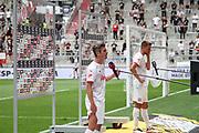 Fussball: 2. Bundesliga, FC St. Pauli - Holstein Kiel, Hamburg, 25.07.2021<br /> Fin Bartels (Kiel) im Interview<br /> © Torsten Helmke