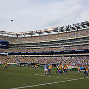 Action during the Brazil V Argentina International Football Friendly match at MetLife Stadium, East Rutherford, New Jersey, USA. 9th June 2012. Photo Tim Clayton