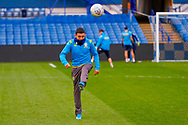 Leeds United midfielder Ian Poveda (7) warming up  during the U23 Professional Development League match between U23 Sheffield Wednesday and U23 Leeds United at Hillsborough, Sheffield, England on 3 February 2020.