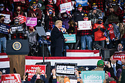 U.S. President Donald Trump cheers to the crowd during a 'Make America Great Again' rally in Duluth, Minnesota, U.S., on Wednesday, Sept. 30, 2020.  Trump and Democratic nominee Joe Biden began their first debate on an acrimonious note and quickly made it personal, with each candidate interrupting and talking over each other. Photographer: Ben Brewer/Bloomberg
