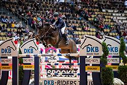 WOLF Cedric (GER), Chicitito<br /> München - Munich Indoors 2018<br /> Championat von München<br /> DKB-Riders Tour Qualifikation zur Wertungsprüfung<br /> 24. November 2018<br /> © www.sportfotos-lafrentz.de/Stefan Lafrentz