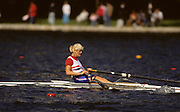 Bled, Slovenia, YUGOSLAVIA. GBR W1X, Alison {Ali} GILL, 1989 World Rowing Championships, Lake Bled. [Mandatory Credit. Peter Spurrier/Intersport Images]