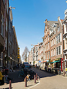 Looking down one of Amsterdam's many side streets.