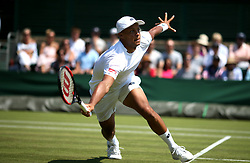 Jay Clarke on day two of the Wimbledon Championships at the All England Lawn Tennis and Croquet Club, Wimbledon. PRESS ASSOCIATION Photo. Picture date: Tuesday July 3, 2018. See PA story TENNIS Wimbledon. Photo credit should read: Steven Paston/PA Wire. RESTRICTIONS: Editorial use only. No commercial use without prior written consent of the AELTC. Still image use only - no moving images to emulate broadcast. No superimposing or removal of sponsor/ad logos. Call +44 (0)1158 447447 for further information.