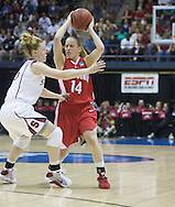 Maria Moeller tries to get around Stanford's defense. Ohio State lost to Stanford on Saturday, March 28, 2009 at Haas Pavilion in Berkeley, Calif. (Photo by Kevin Bartram)