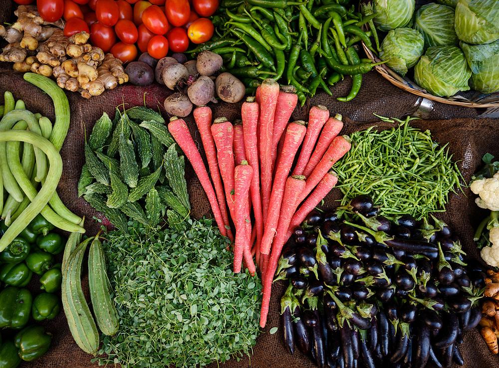 JODHPUR, INDIA - CIRCA NOVEMBER 2018: Vegetable stand in the streets of Jodhpur