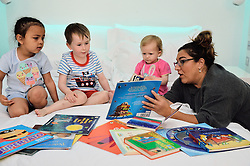 © Licensed to London News Pictures. 17/05/2016. Super Nanny Jo Frost launches Bath Book Bed campaign with children to promote reading before bedtime. London, UK. Photo credit: Ray Tang/LNP