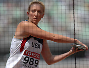 Aug 27, 2007; Osaka, JAPAN; Suzy Powell (USA) had a best throw of 195-5 (59.57m) in the 11th IAAF World Championships at Nagai Stadium.
