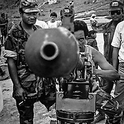 Contra's camp. A terrorist group fighting against Nicaragua's Sandinista government. Honduras.
