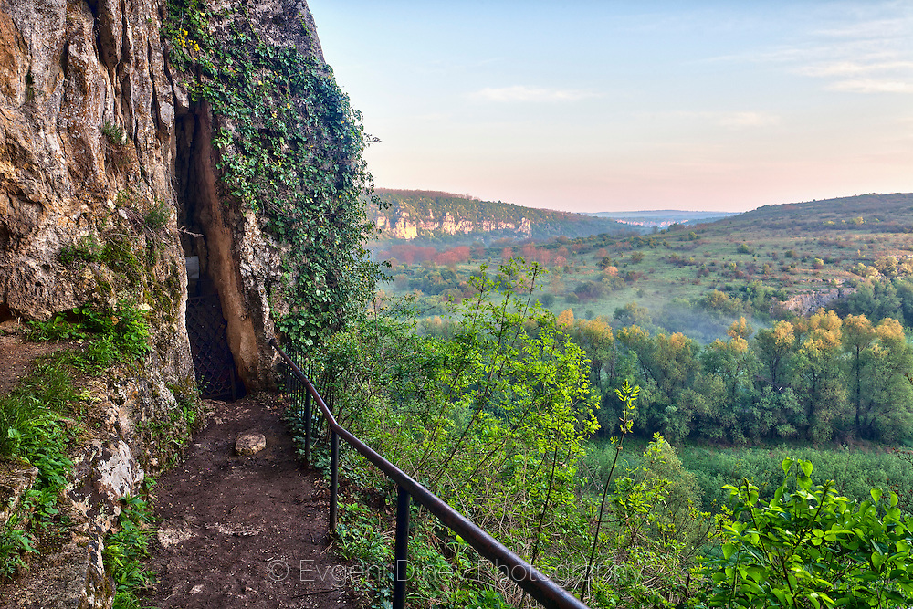 Rusenski Lom canyon near village of Ivanovo. The niches in the rocks around are used in the ancient ages as churches.