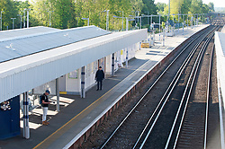 ©Licensed to London News Pictures 14/05/2020<br /> Petts Wood, UK. A deserted station. Only a handful of London commuters at Petts Wood train station in Petts Wood, South East London this morning due to the on going threat of Coronavirus. Photo credit: Grant Falvey/LNP
