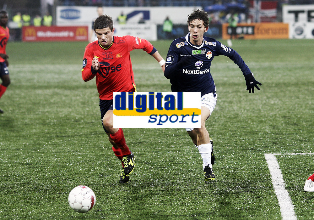 Fotball , 22. april  2012 , Tippeligaen , Eliteserien<br /> Strømsgodset - Viking <br /> <br /> Gustav Mendonca Wikheim ,SIF<br /> Valon Berisha , Viking
