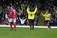 Fotball<br /> Foto: Alan Crowhurst, Digitalsport<br /> Norway Only<br /> WATFORD V CREWE Nationwide Division One<br /> 10/04/2004. Micah Hyde celebrates his goal.
