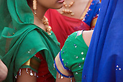 close up of Indian girls in traditional dress