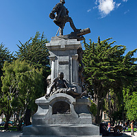 Memorial to Hernando de Magallanes in Punta Arenas.