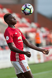 © Licensed to London News Pictures . 15/08/2016 . Leigh , UK . MATTHEW OLOSUNDE on the ball . Manchester United vs Leicester City reserves at Leigh Sports Village Stadium . Photo credit : Joel Goodman/LNP