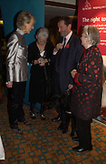 Joanna Trollope, Jacqueline Wilson, David Blunkett and Baroness James,  . 70th anniversary of the RNIB Talking `book service. Arts Club. Dover St. London.  8 November 2005 . ONE TIME USE ONLY - DO NOT ARCHIVE © Copyright Photograph by Dafydd Jones 66 Stockwell Park Rd. London SW9 0DA Tel 020 7733 0108 www.dafjones.com