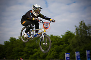 #53 (PRIES Nadja) GER at the UCI BMX Supercross World Cup in Papendal, Netherlands.