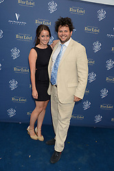 The Johnnie Walker Blue Label and David Gandy Drinks Reception aboard John Walker & Sons Voyager, St.Georges Stairs Tier, Butler's Wharf Pier, London, UK on 16th July 2013.<br /> Picture Shows:-Harry Cole and Romilly Dennis
